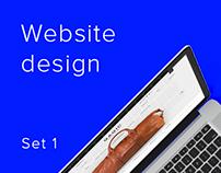 Website design · set 1