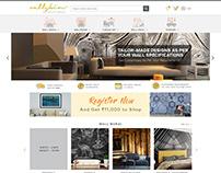 Ecommerce Web Design for Wallskin