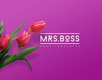 Mrs. Boss Logo Templates