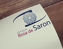 Logotipo Ótica Rosa de Saron