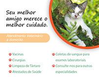 """Folheto """"Care for Pet"""""""