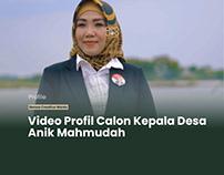 Video Profil Calon Kepala Desa Anik Mahmudah