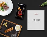 Food menu for restaurant