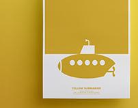 Yellow Submarine - Rebus Poster