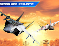 F-16 Jet Fighter War Attack Simulation: Air Combat JG17