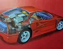 Ferrari F40 Sketch