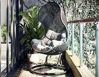 A vacant Balcony