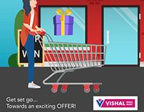 Gamification Facebook campaign for Vishal Megamart