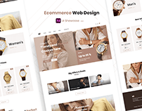 WS Ecommerce Watches Web Design