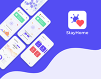 StayHome - EUvsVirus (Mobile Application) | UX/UI