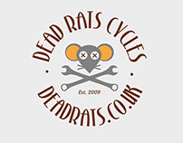 Dead Rats Cycles Logo & Lettering