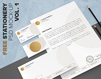 (FREE) Stationery mock-up set vol.1