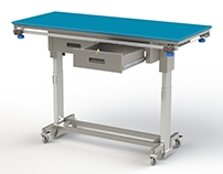 Height adjustable dissection table