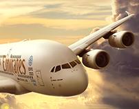 EMIRATES A380 - CGI