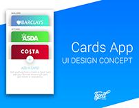 Cards App (Wallet Concept) - UI Design Concept