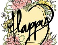 Illustration Class: Bee Happy T-Shirt 2015