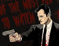 Ilustración Quentin Tarantino