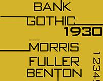 Bank Gothıc Typography Desıgn Poster 2