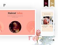 Web project for hair salon