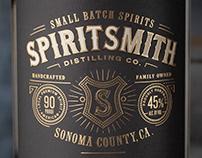 SpiritSmith Distilling Co Gin Packaging & Logo Design