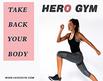 Hero gym outdoor banner