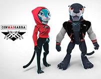 Diseño de personajes de la UAM AZCAPOTZALCO