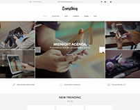 Shopify theme & Magento theme design for phone store