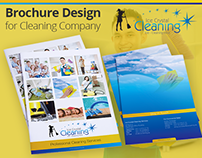 Brochure Design for Cleaning Company by Swan Media