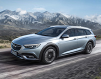 Dirt-road test drive with the Opel Insignia