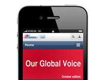 Mobile Version of Intranet Web Portal