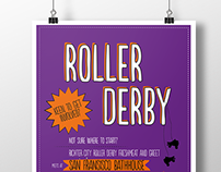 Richter City Roller Derby Recruitment Poster
