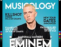 Eminem Magazine Spread (Typography)