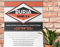 Burja Sans 2.4: Sans-serif typeface all caps family