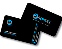 IP ROUTES logo & business card
