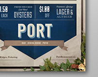 Port Restaurant Advertisment