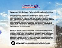 Australian Assignments Service for Australian Students