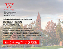 Wells College Open House Postcard 2012
