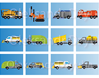 Truck badges (icons) vector set for a car company