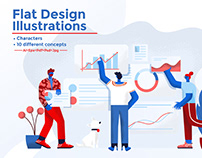 Modern Flat design People and Business concepts