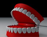 Toy teeth animation