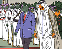 蛙人系列插画