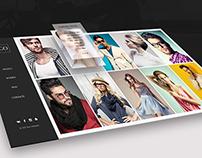 Model agency web site concept