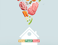 Poster meat shop