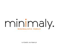 Minimaly. Sans serif font family