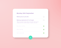 ToDo List - #DailyUI #042