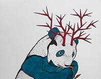 """Panda with horns"""