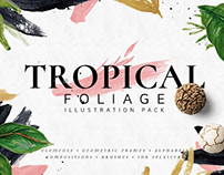 Tropical Foliage Watercolor Pack