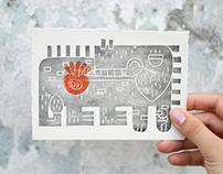Big Black MOKO (linocut hand print)