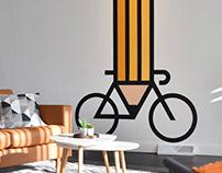Drawing Bikes Mural