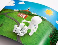 Пластилиновый буклет о компании